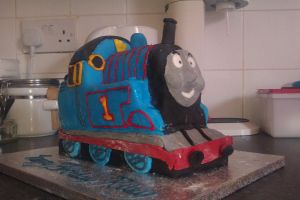 Thomas The Tank Engine Cake by Ulla-Andy