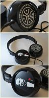 +commission+ custom headphones by Creationfail