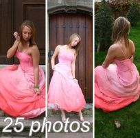 Pink Dress Stock PACK by Malleni-Stock