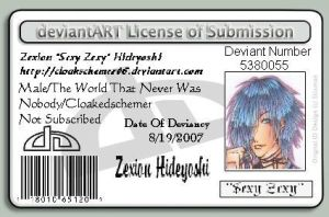 Zexion ID.. Officially by CloakedSchemer06