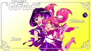 Sailor Saturn And Chibimoon by Kar-leeBowery