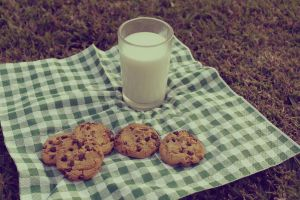 a cookie n' milk picnic by oravla
