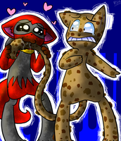 Red and the Cookie Dough Mew by Chocolatewoosh