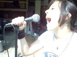 Sings her heart out by DavidDDay
