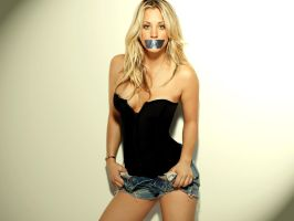 Kaley Cuoco Gagged 2 by N099ER