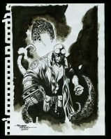 hellboy sketch rough by Blasterkid