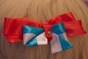 Finn and Jake Hair Bow by AngelicalDesign