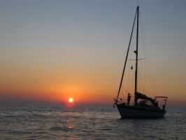 Sailboat on sunset by labronico7