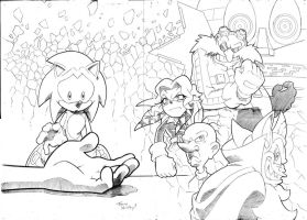 Sonic 225 variant cover pencils by Yardley