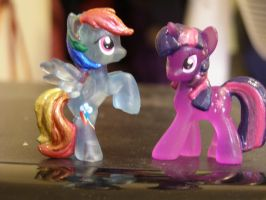 Crystal blind bag Dashie and Twilight by Silentsaturn91
