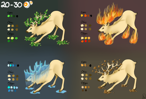 Element Deer Adoptalbes [1 LEFT!] + Custom [FREE] by o7Mizu