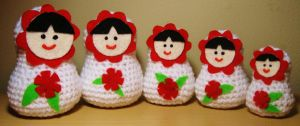 Set of 5 Crochet Russian Dolls For Sale! by HaleyGeorge