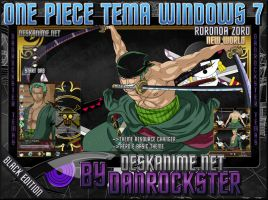 Roronoa Zoro Black Theme Windows 7 by Danrockster
