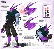 Kane Ref Sheet by bezzalair