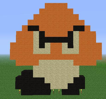 Minecraft - Goomba by Unstable-Life