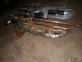 gears of war lancer steampunk by drnightshade