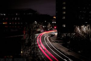 Night light car trails 2 by Samuel-Benjamin