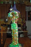 tangled tower cake by toastles