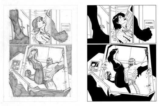 Nathan Never's proof pages - 01 - Layout 'n' Inks by AleMonaco
