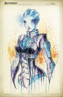 Mass Effect Liara Saucy by RobDuenas