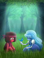 Ruby and Sapphire by ChanceyB