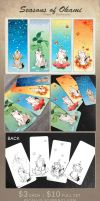 Seasons of Okami Prism Bookmarks by zetallis