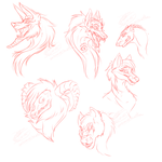 Sketches Awooo by RoomsInTheWalls