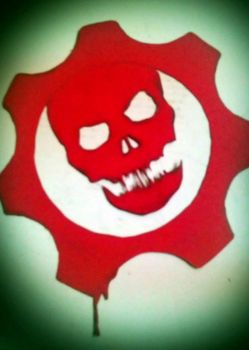 My Gears of War Stencil by dmillersquared