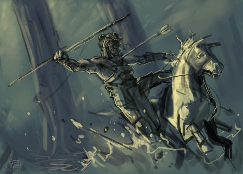 Speedpaint: Horseman by greeni-studio