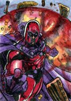 Magneto 2 Sketch Card by DKuang