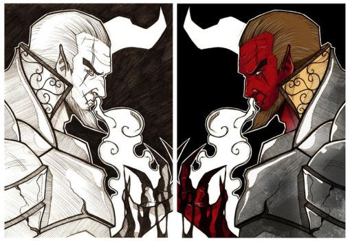 Lucifer-Before and After by SentientAndroid