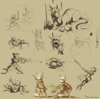 Sketch Dump - tiny hero by davi-escorsin