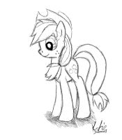Apple Jack Sketch by katiecoolchic