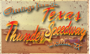 Killeen Texas Thunder Speedway Post Card by Killday