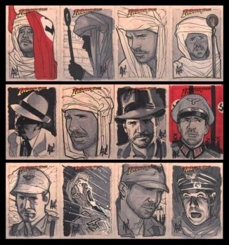 Indy Sketchcards by AdamHughes