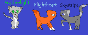 Squirrelflight and Ashfur's kits by Gizmo971