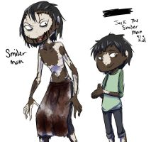 Smiler Man young and old by Chibi-Works