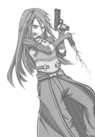 [GrayScale] GGO Kirito - Remastered! by Kayuu-kun