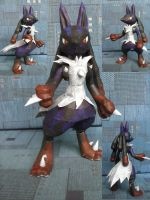 Mega Lucario papercraft by SMDgamer27