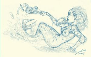 Mermaid sketch by GEBdesign