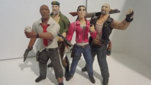 Left 4 Dead survivors clay figures by armoredringo115