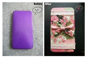 Kawaii Wallet ~ Before and After by hleexyooj