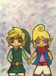 Link and tetra ~watercolor~ by Jenny123332