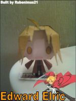 Chibi Edward Elric Papercraft Finished by rubenimus21