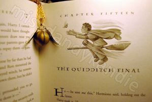Harry Potter Snitch Necklace by misskandie