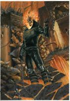 ghost rider in the hell color by LucaStrati