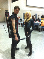 Black Canary and Hawkeye Cosplay by Neo-Jackal