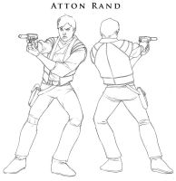 Star Wars - Atton Rand Mini by ChristopherStevens