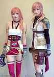 Lightning and Serah Final Fantasy 13 Cosplays by AlysonTabbitha