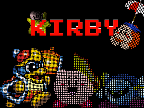 Kirby Dot Art Collection by Teestruction